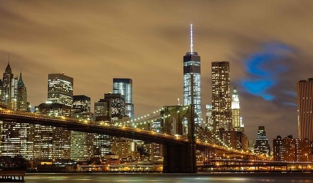 ブルックリンブリッジ(夜景)